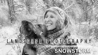 All But a Blizzard! Heavy Snowstorm Landscape Photography