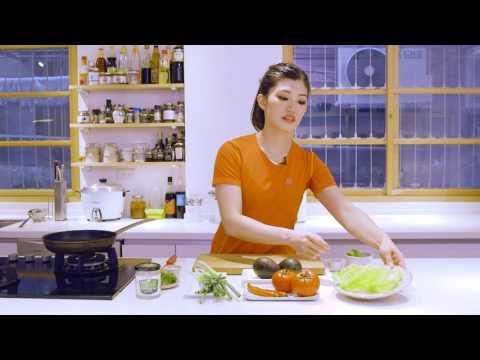 15分鐘輕鬆上菜:健美女大生示範『牛絞肉生菜船』