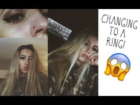 Changing My Nose Piercing For The First Time Youtube
