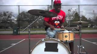 """Drums- """"Seadric C-LO Crawford"""" Playing Drums On The Court"""