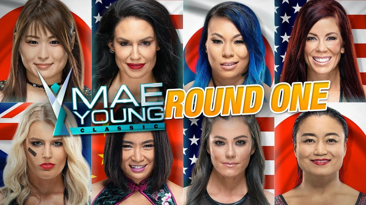mae young classic 2018 round 1 review ring the belle youtube. Black Bedroom Furniture Sets. Home Design Ideas