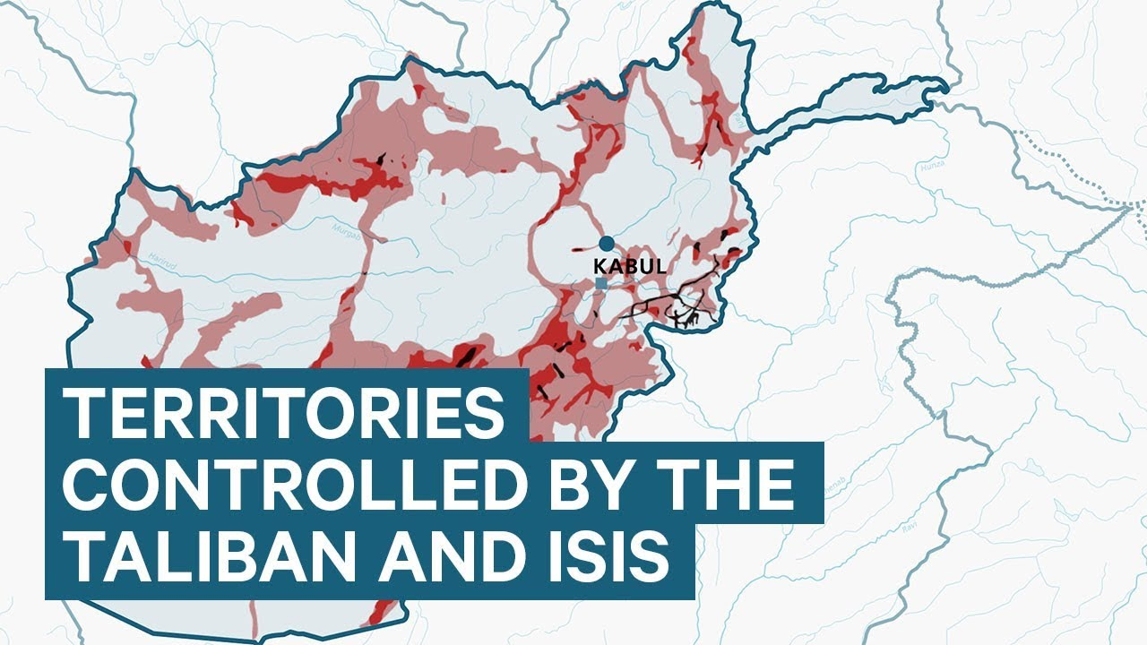 The territories in Afghanistan controlled by the Taliban and ISIS
