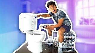 DIET COKE MENTOS TOILET EXPERIMENT!