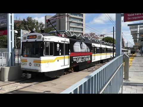 LA Metro Rail: 1995 Nippon Sharyo P2020 Expo Line at Expo Park/USC Station