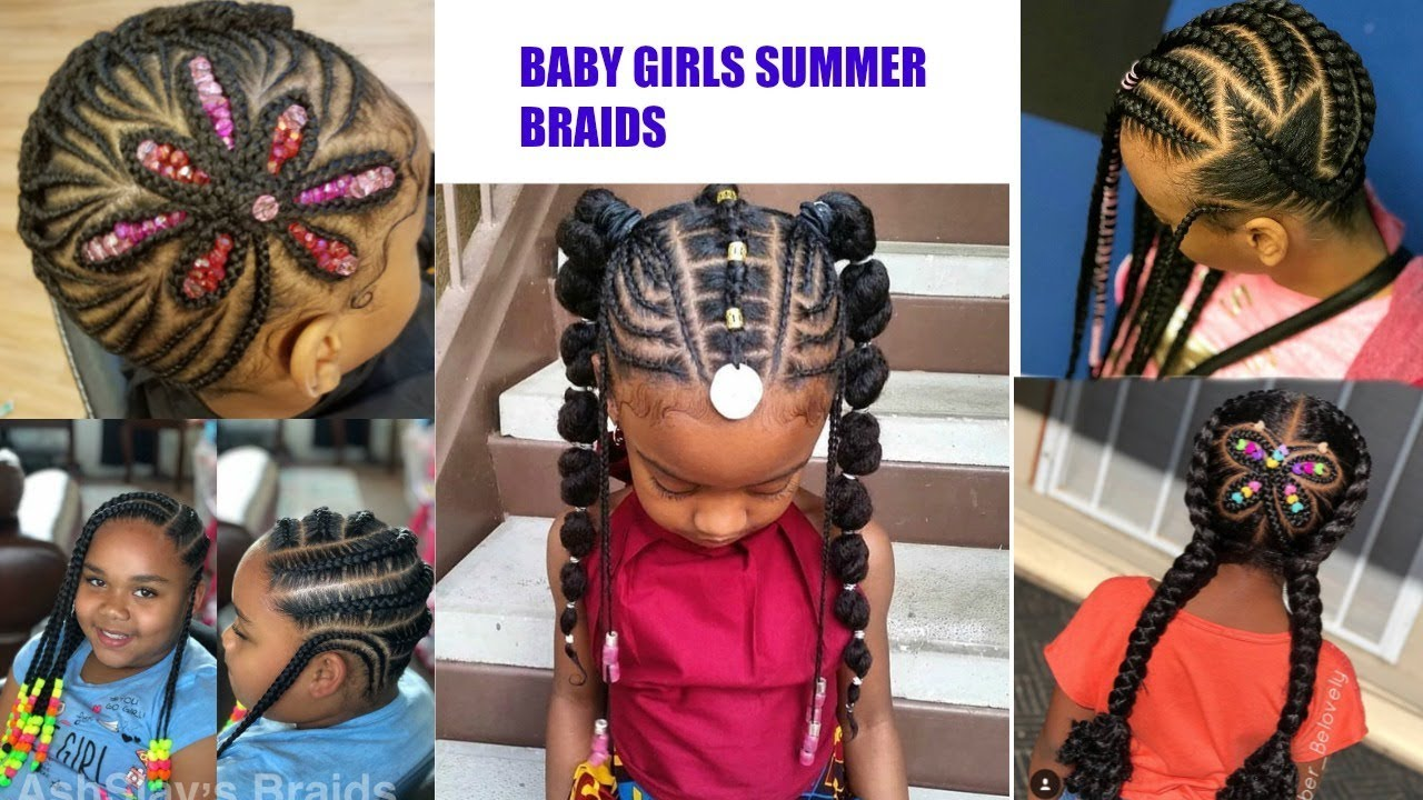 Baby Girls Braided Hairstyles For Summer Omonicurls