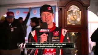 Kurt Busch sets reporter straight