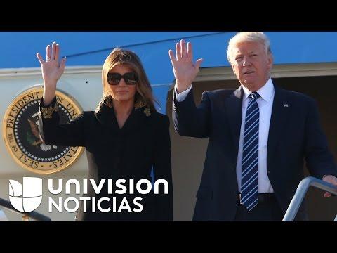 Otra vez: Melania volvió a rechazar la mano de Donald Trump, ahora en Roma