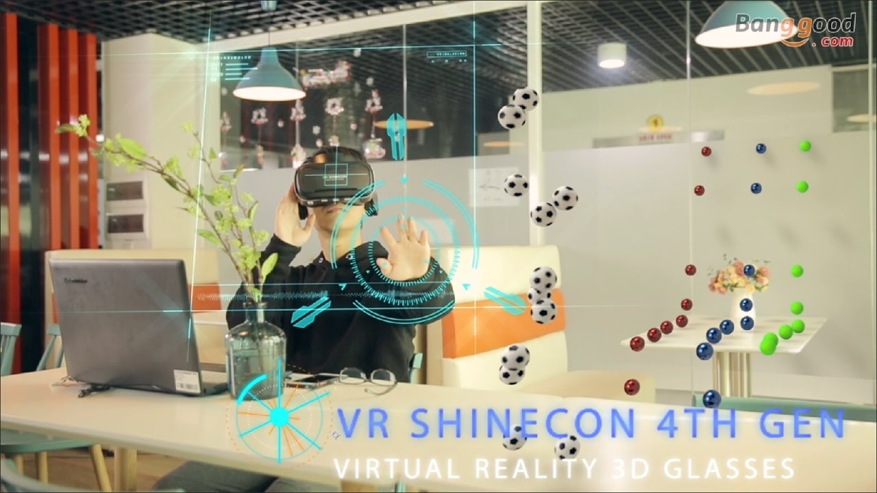 334407c5b93 VR Shinecon 4th Gen Headset Version Panoramic 3D VR Glasses - YouTube
