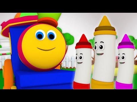 색상 혼합 방법 | 밥 열차 | 어린이 노래 | 아기 운 | How Colors Mix | Bob The Train | Rhyme Song | Colors Song For Kids