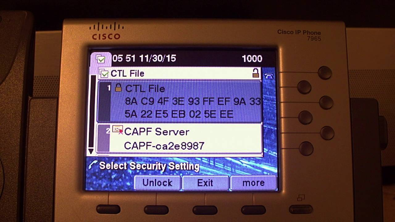How to - Removing CTL and ITL from 7900-series phones via SSH