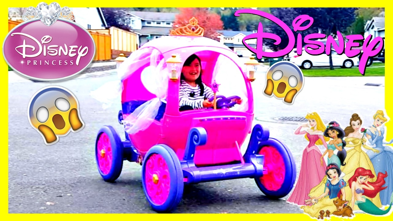 607e32eed Disney Princess Carriage Ride-on Powerwheels 24v Dynacraft Birthday magical  surprise