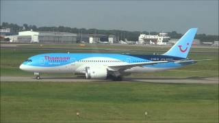 Thomson Dreamliner G-TUID take off from Birmingham Airport - 21st July 2014!