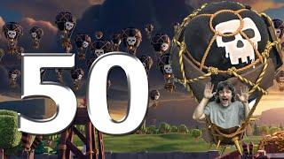 50 BALÕES Nível 6 - Full Balão 6 arrasando - Rodolfo Clash of Clans