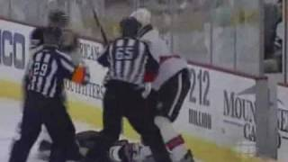 Andy Sutton's Hit On Jordan Leopold- NHL 2010 Playoffs (April 16 2010)