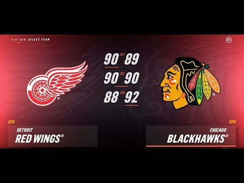 NHL 19  (Xbox One S)  Detroit Red Wings Vs Chicago Blackhawks.