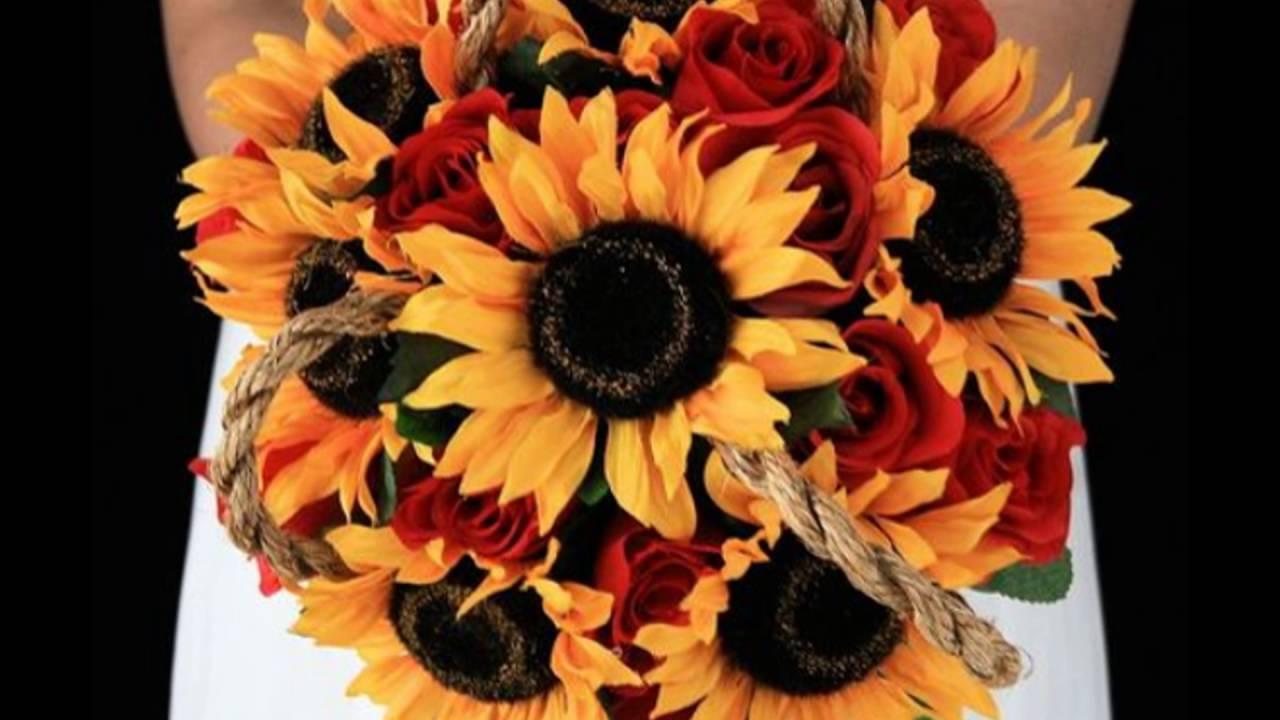 Sunflower And Rose Flower Arrangement