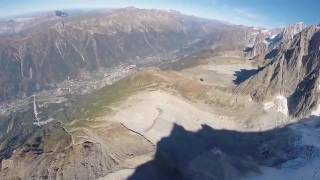Crash en wingsuit à Chamonix
