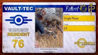 Let's Play Fallout 76   Single Player #63 Mirelurks in Sunrise Field