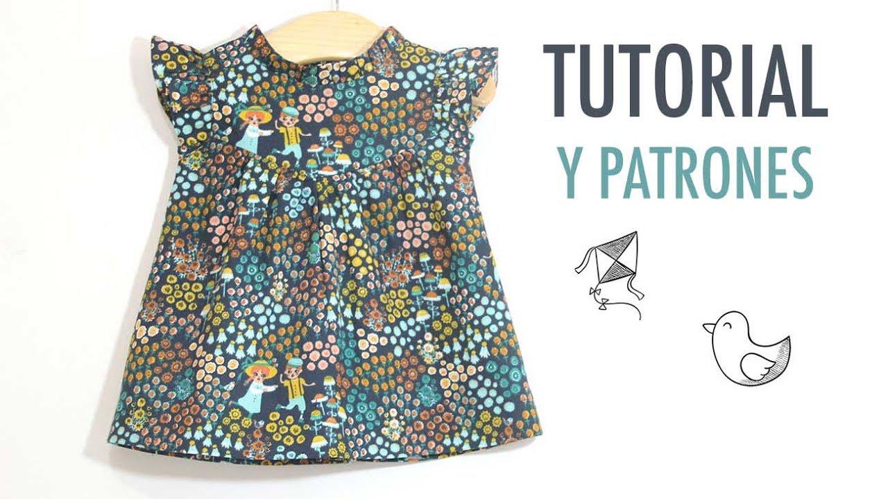 f6f8d4c1a DIY Cómo hacer vestido para niñas (patrones gratis incluidos) - YouTube