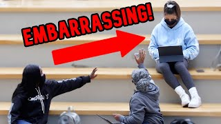 BLASTING EMBARRASSING MUSIC IN THE LIBRARY PRANK 3!!