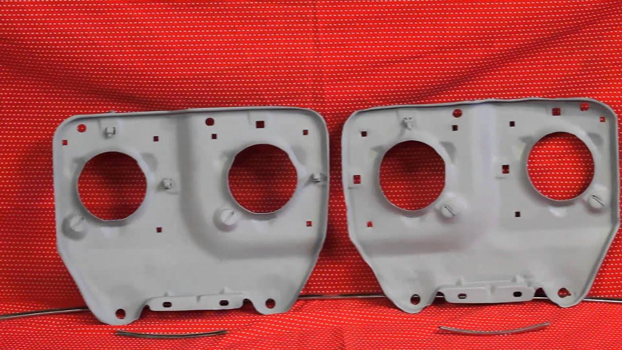 1968 1969 1970 GTO Headlight Backing Plates Buckets - YouTube