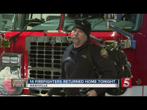 Nashville Firefighters Return From Sevier County
