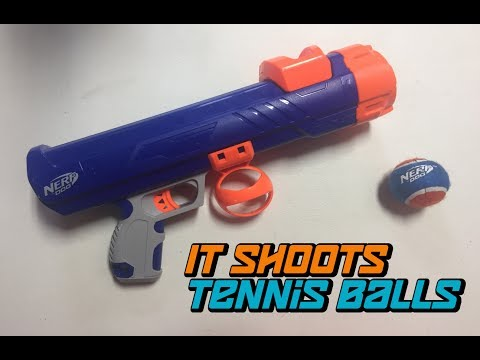 NERF DOG Tennis Ball Blaster Review (ft. Hero)
