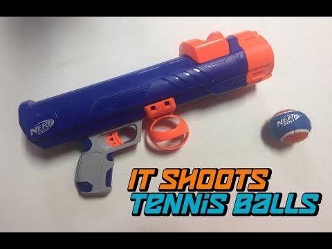 NERF DOG Tennis Ball Blaster Review (ft. Hero) | Walcom S7