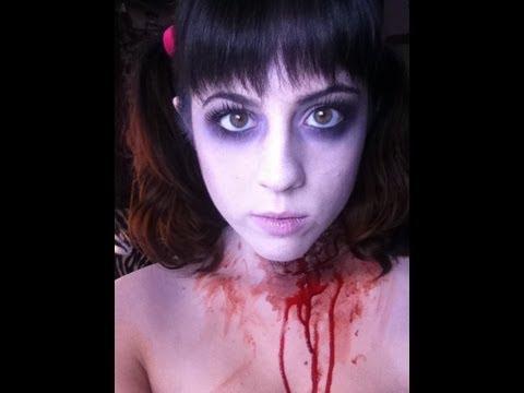 Halloween Tutorial: Dead Zombie Cheerleader - YouTube
