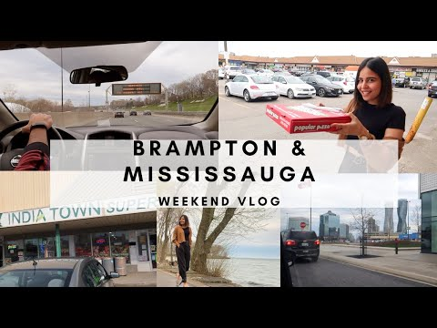 Went To Brampton And Mississauga For The First Time| Rented A Car| Quarantine Life, Toronto Canada