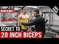 Secret to 20 INCH BICEPS is this Workout! BBRT#59 (Hindi/Punjabi)