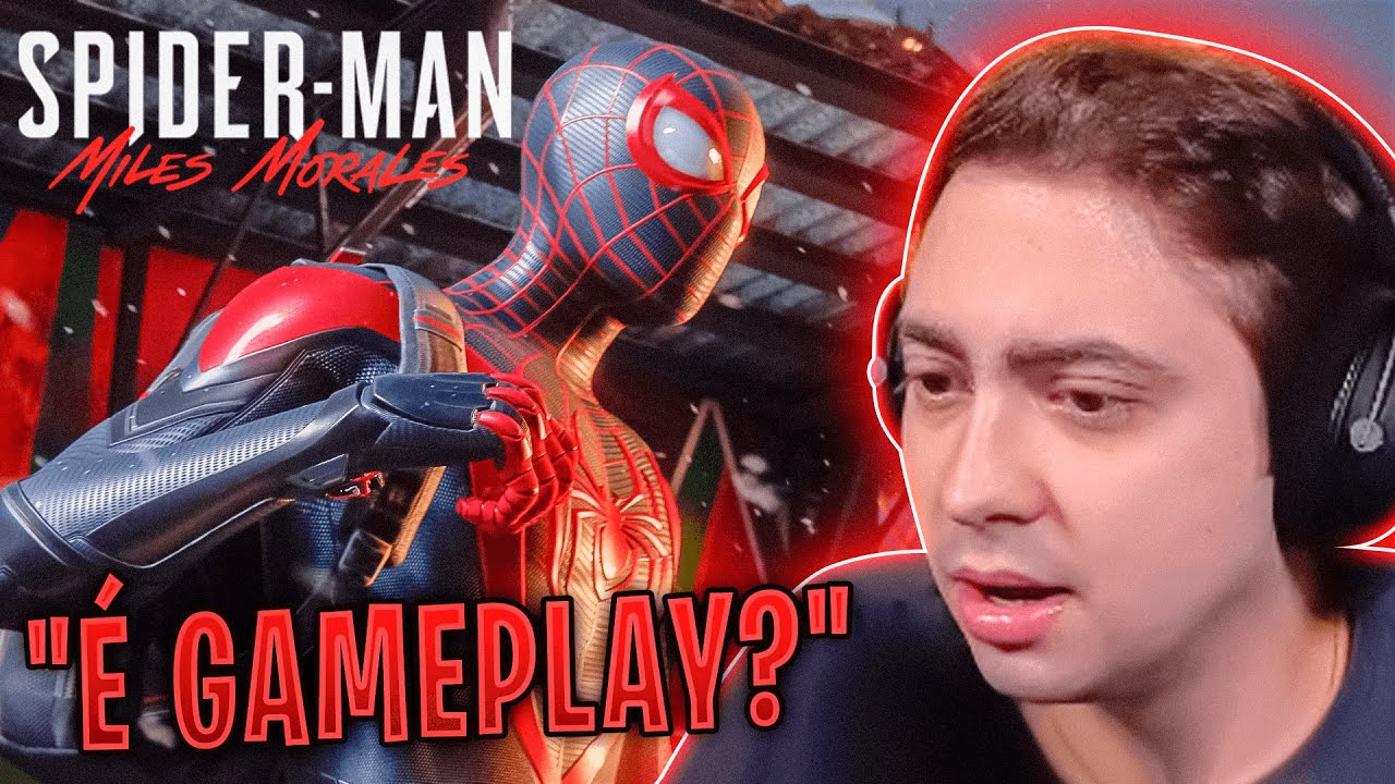 YOUTUBERS REAGINDO A GAMEPLAY DO SPIDER-MAN: MILES MORALES
