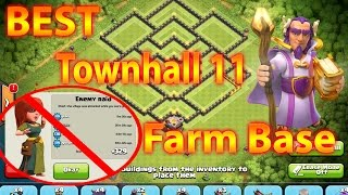 Clash Of Clans - The Best Townhall 11 Farm Base with eagle canon To Get A Shield EVERY DEFENSE