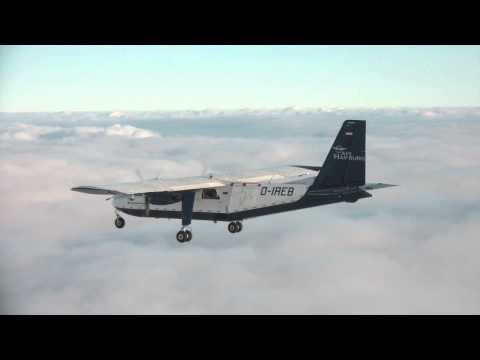 Air Hamburg Formation Flight 2 Britten Norman Islander on top HD gopro