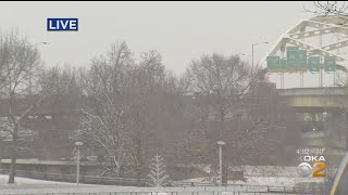 Snow Hits Pittsburgh Ahead Of Winter Storm Expected