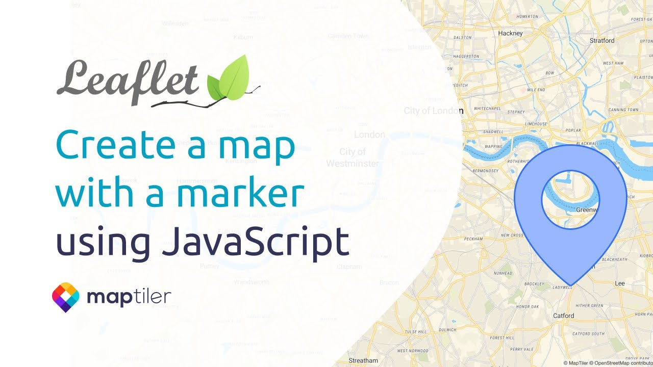 Leaflet Tutorial #1: Create a map with a marker using JavaScript