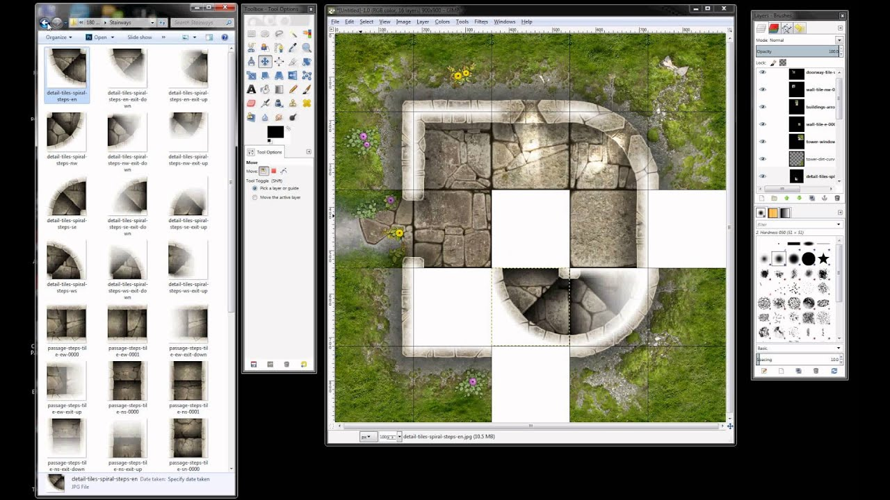 Tutorial: How to use the Map Tiles with GIMP - Studio WyldFurr