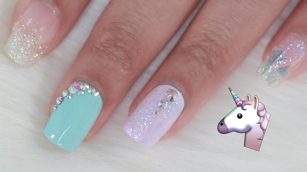 Easy Unicorn Inspired Nails
