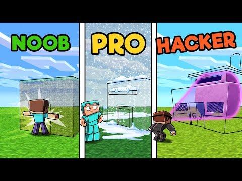 Minecraft - SECRET HIDDEN HOUSE! (NOOB vs PRO vs HACKER)