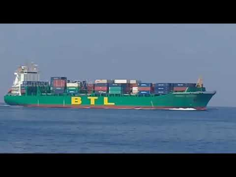 Container Ship Rushing Over To Chennai