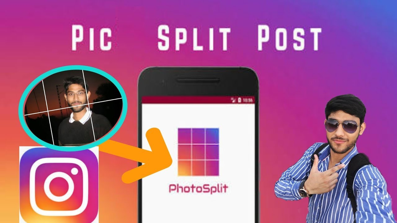 PhotoSplit-Post Pic into Grid,Collage in Instagram by GeekyRakesh