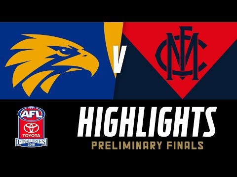 West Coast V Melbourne Highlights | Preliminary Final, 2018 | AFL
