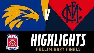 West Coast v Melbourne Highlights | Preliminary Final, 2018 | AFL