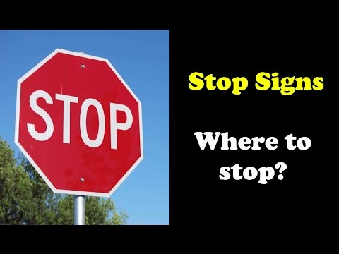 Where to stop at a stop sign?