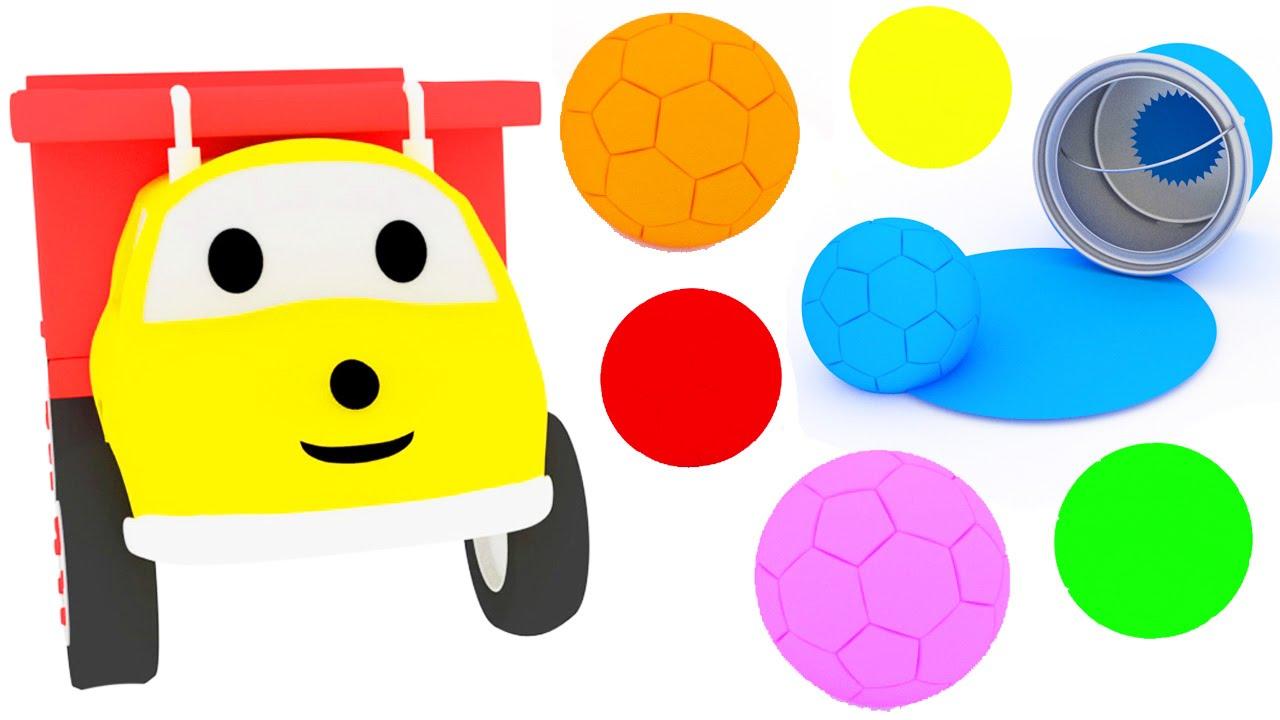 Las pelotas de fútbol | Aprender los colores con Ethan el camión ...