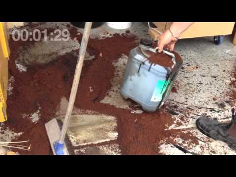 SpillFix Organic Absorbent Real Spill Cleanup Overview Tutorial