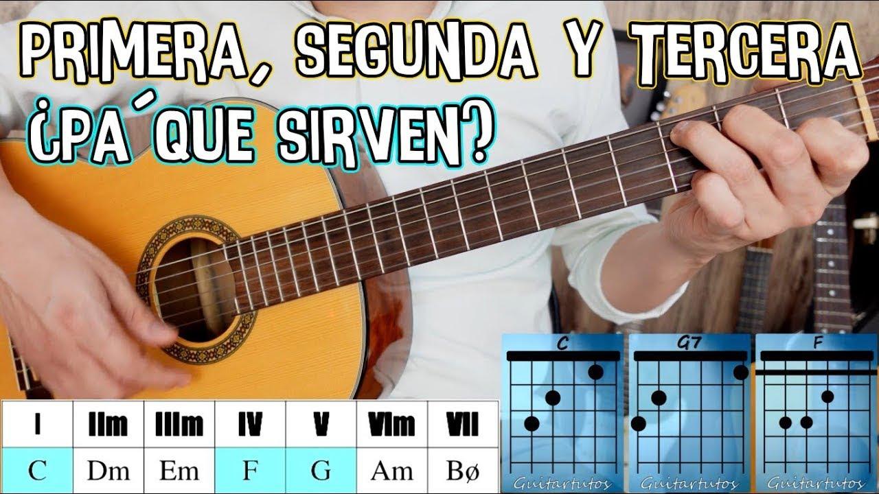 Primera, segunda y tercera en guitarra - ¿Qué son, cómo se hacen y para que sirven? + ¡Cómo usarlas!