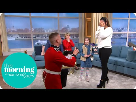 Surprise Grenadier Guard Proposal In The Studio! | This Morning