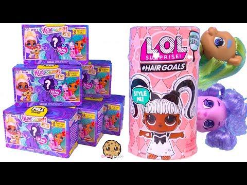 Hairdorables PETS Surprise Blind Bags + Hair Goals LOL Surprise ! Cookie Swirl C Video