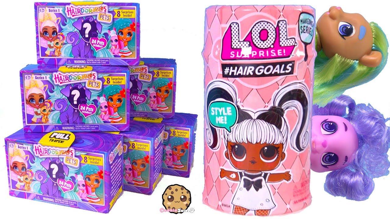 Hairdorables Pets Surprise Blind Bags Hair Goals Lol